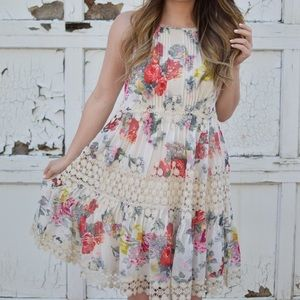 Anthropologie Kalila Floral Dress